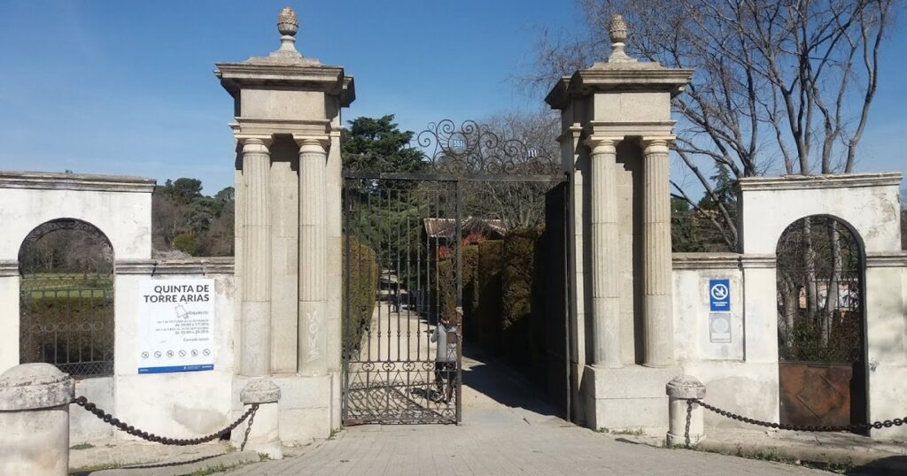 Entrada a la Quinta Torre Arias en Canillejas(Foto SIEMA Matritensis)